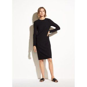 VINCE Solid 3/4 Sleeve Sheath Dress Work Office